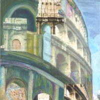 Colosseum | 645mm x 645mm £115.00 (unframed)
