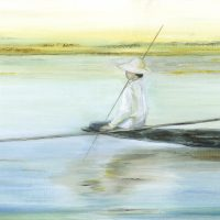 Fishing on Inle Lake | 406mm x 508mm | £315.00 (framed)