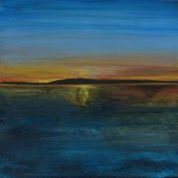 Sunset on the Irrewaddy | 510mm x 510mm | (sold)